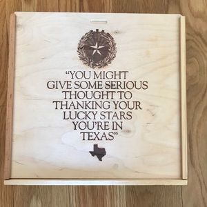 Made In Texas Wooden Pie Box